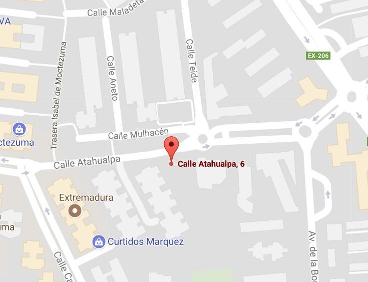 Dirección: Calle Atahualpa 6, Cáceres